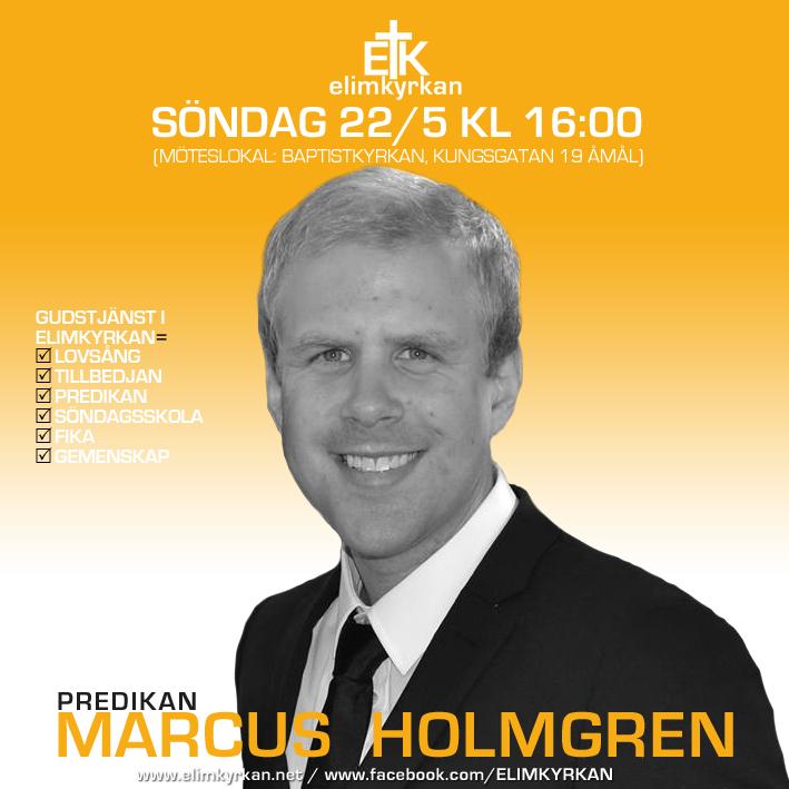 20160522 Gudstjänst Marcus Holmgren