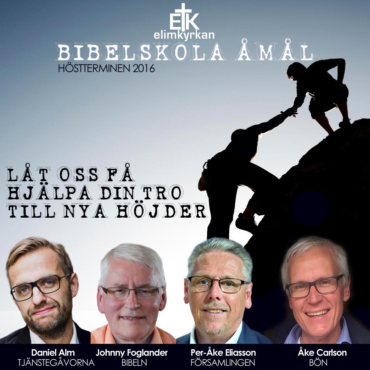 Annons Bibelskolan höstterminen 2016 1