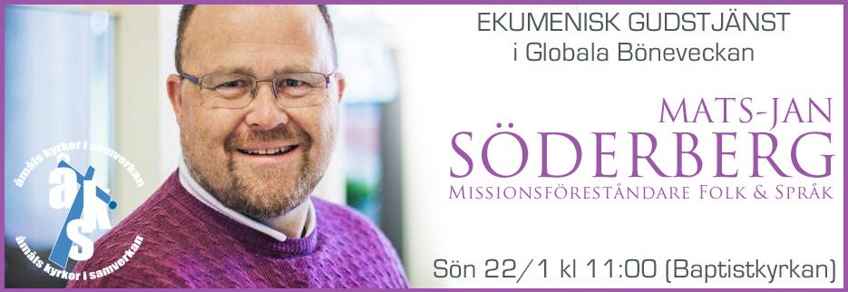 Gudstjänst Globala Böneveckan Mats-Jan Söderberg 20170122