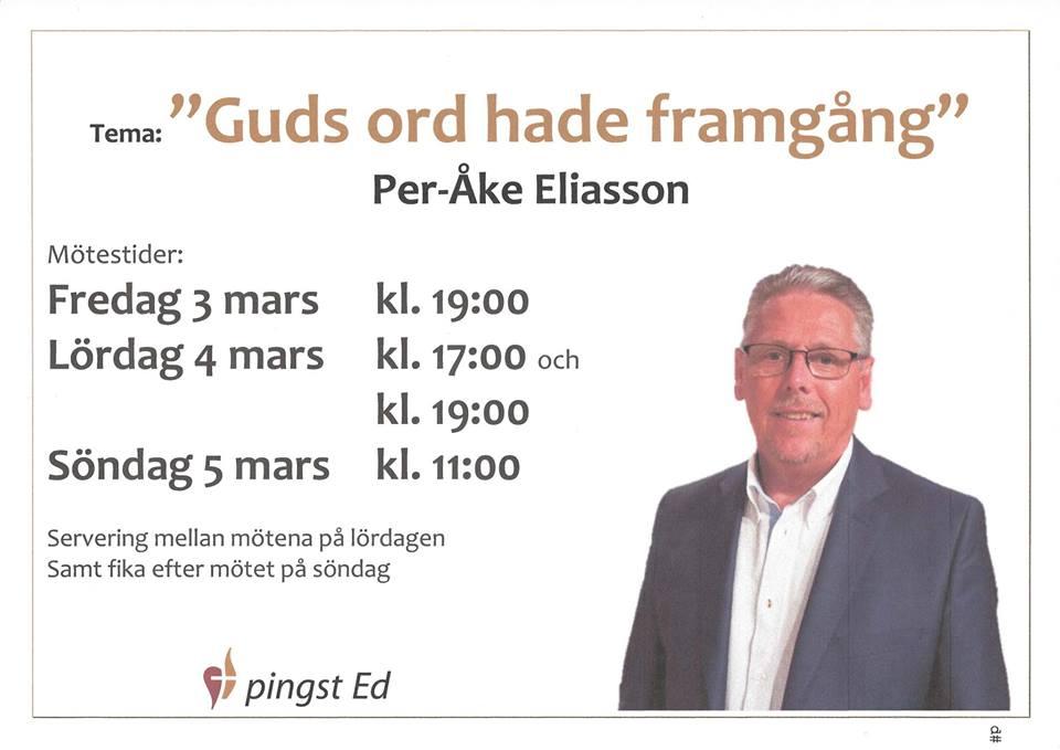 Konferens pinsgt Ed Per-Åke Eliasson